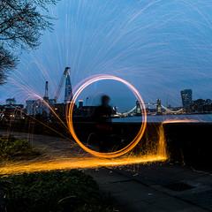 180407 6358 (steeljam) Tags: steeljam lightpainters bermondsey wire wool spinning thamse london
