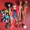 Flea Market Finds : 04-15-2018 (MyMonsterHighWorld) Tags: monster high barbie doll mattel la dee da bollywood cleo de nile courtney fashion party cali girl california skeletor heman lalaloopsy