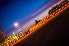 Taxi driveby (Vlash) Tags: canon760d night canon orange ski norway longexposure summer road car akershus lights green blue may sigma1835f18dchsmart red