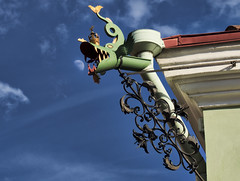 Moon and Gargoyle, Tartu, Estonia (neilalderney123) Tags: estonia tartu gargoyle moon travel olympus history