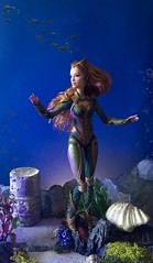 Princess of Xebel (MaxxieJames) Tags: mera aquaman barbie amber heard justice league dc dcu underwater mattel doll collector