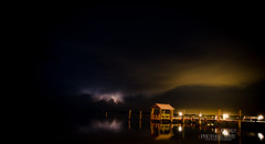 The Calm Before the Storm (photographybydms) Tags: storm lightning florida keys dock ocean nature night clouds dusk sea reflection calm nikon d5100 water