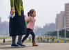 Kid and her mom in Pyongyang (TeunJanssen) Tags: pyongyang korea mother kid girl walk dof 75mm 75mmf18 northkorea dprk youngpioneertours ypt olympus omd omdem10 travel street streetphotography traveling worldtravel backpacking