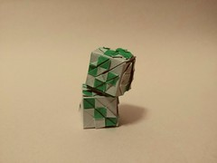 Origami Dice (Sasha CraftSpace) Tags: origami sashacraftspace dice die token fold oneuncutsquare tanakamasashi paper roll