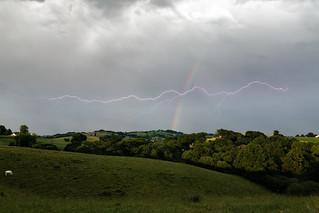 Lightning over the rainbow