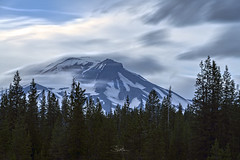 Blustery South Sister (TierraCosmos) Tags: southsister mountain clouds longexposure forest trees dutchmanflat oregon cascades landscape