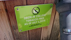 DSC_4440 (majorbonnet) Tags: oberlincollege sign whitesquirrel ohio oberlin tobaccofree smoking