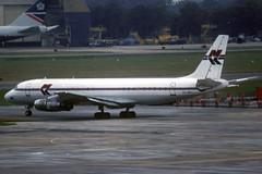MK Airlines DC-8-62F 9G-MKC LGW 12/08/1996 (jordi757) Tags: airplanes avions nikon f90x kodachrome kodachrome64 lgw egkk london gatwick mcdonnell douglas dc8 dc862 mkairlines 9gmkc