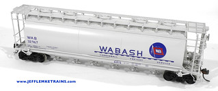 OMI 3037 Wabash Cylindrical Covered Hopper in HO Scale