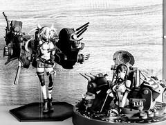 Musashi & Yamato - Black & White (影Shadow98) Tags: yamato musashi max factory good smile company kancolle kantai collection