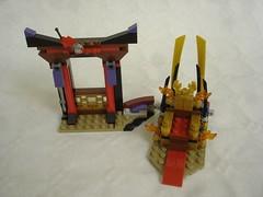 70651 - Part 2 wall (fdsm0376) Tags: lego review set 70651 ninjago nya lloyd skylor harumi samurai x throne room