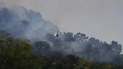 San Rafael Hill Brush Fire - 7 (fksr) Tags: brushfire fire smoke hillside trees helicopter firefighters sanrafaelhill sanrafael marincounty california