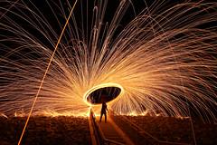 Steelwool (hisalman) Tags: steelwool fire spinner adventure wool steelwoolphotography hisalman salmanahmed northrasalkhaimah unitedarabemirates ae