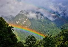Double rainbow in the wind.. (Vibhutius) Tags: rainbow sikkim travel scenery himalayas mountains nature nikon