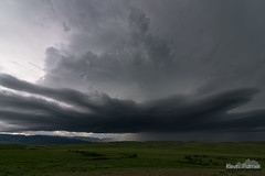 Aberdeen Supercell (kevin-palmer) Tags: crowindianreservation storm stormy thunderstorm weather sky clouds evening aberdeen montana spring may green hills grass grassy supercell nikond750 tokina1628mmf28 bighornmountains rain hail stateline structure