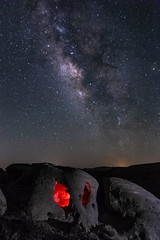 The Caves Have Eyes (slworking2) Tags: borregosprings california unitedstates us sandstone geology desert anzaborrego anzaborregodesertstatepark windcaves cave milkyway night sky
