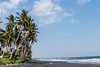 Landscape of black sand beach with beautiful palms. Bali island. (Artem Bali) Tags: sand black state beach ocean tropical sea nature sky palm bali island water summer blue travel tree landscape vacation coast exotic green beauty shore cloud background coastline scenic beautiful sun romantic turquoise surf hot wild color retro idyllic colorful holiday tranquil sunny lava trip lush paradise white bay park silhouette
