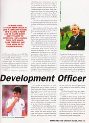 Manchester United Magazine - December 1994 - Page 45 (The Sky Strikers) Tags: manchester united magazine december 1994 the official volume 2 number 12 one pound ninety five