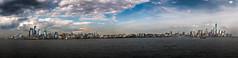 Manhattan final.jpg (Mariposaland Photos) Tags: riverwalk worldtradecenter hoboken hudsonriver clouds pano panorama skyline nycskyline newyorkcity manhattan newjersey