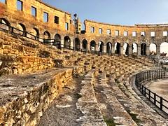 Seating (aiva.) Tags: croatia istria pula hrvatska istra balkan coliseum arena amphitheater jadran adriatic sunset ruins antic architecture