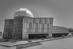Rancho Mirage Observatory BnW (johngoucher) Tags: approved ranchomirage palmsprings coachellavalley california ranchomirageobservatory ranchomiragepubliclibrary observatory space outerspace sky stars architecture building design architectural buildingdesign monochrome bnw blackandwhite bw