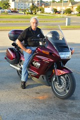 Chris rolling in on his new ride (radargeek) Tags: travel ontheroad portrait chris al alabama athens 2018 motorcycle honda friends