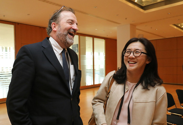 Kieran Ring and Ghim Siew Ho appreciate the event
