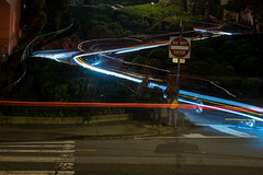 Lombard Street (benakersphoto) Tags: sanfrancisco sanfran city long longexposure car cars streets street lombardstreet night dark light lights lighting slow slowshutter nikon nikkor