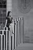 Woman (sdupimages) Tags: street rue nb bw noirblanc blackwhite architecture colonnesdeburen woman femme candid paris parisienne perspective