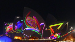 A close up of the Sydney Opera House... (The Pocket Rocket, On and Off.) Tags: vivid sydneyoperahouse newsouthwales australia eresting lighting