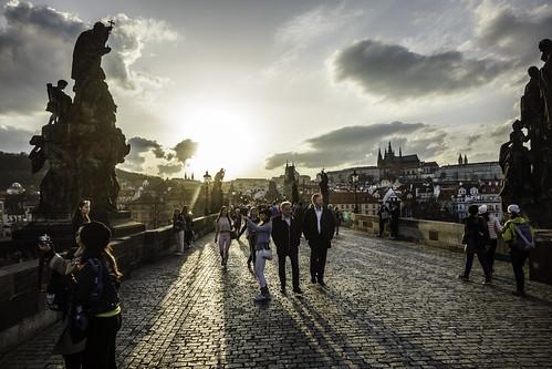 Walking on Charles Bridge (2018), Prague-5