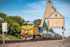 Hot Hot Hot Train! (dscharen) Tags: amtrak californiazephyr dekalb genevasub illinois trains up unionpacific coal chute