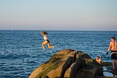 Jump - DSC_0267 (John Hickey - fotosbyjohnh) Tags: 2018 dublin may2018 sandycove lady person swimmer jump dive seascape fortyfoot sea coast rocks