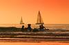Bathing & sailing - Tel-Aviv beach - Follow me on Instagram:  @lior_leibler22 (Lior. L) Tags: bathingsailingtelavivbeach bathing sailing telaviv beach sailboats people telavivbeach israel silhouettes