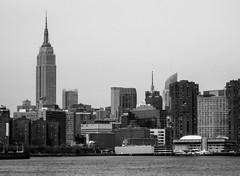 Empire State Building, East River, Manhattan Island Cruise 2011 (bobbex) Tags: bigapple newyork nyc newyorkbw ny usa bw blackwhite cityscape manhattan