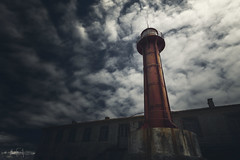 Give light, and the darkness will disappear of itself (RuiFAFerreira) Tags: blue canon efs1018mmf4556isstm exterior lighthouse mood creativeedit old portugal esposende rusty red clouds shadow light urban uwa landscape