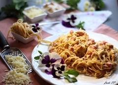 ESPAGUETIS EN SALSA CARBONARA (z@ri) Tags: pasta paste espaguetis carbonara cuisine food italianfood canon1200d 50mm18 homemade blogger homefood delicious gourmet