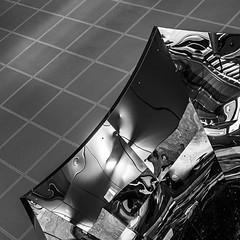 Pioneer Village Vortex #3 (Michael Muraz) Tags: 2017 bw blackwhite canada northamerica on ontario pioneervillage ttc toronto world abstract architecture building monochrome reflection station subwaystation trainstation vaughan ca
