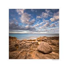 Play of lights (g.femenias) Tags: escanons betlem artà mallorca seascape landscape sea rocks bigstone clouds mountains longexposure leelittlestopper stack squareframing