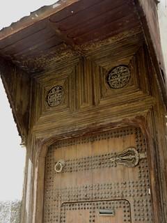 Porte de demeure fassi, médina de Fès el Bali, Fès, Maroc.
