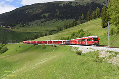 2018 | RhB ABe 8/12 3508 te Bergün (Arno Verhagen) Tags: alvra allegra bergün rhb rhätischebahn abe812 albulabahn