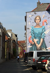 Malines Langhestraat @Milu Correch (Alicia Duerme) IMG_0241 (blackbike35) Tags: malines melchelen belgique art artwork de rue aérosol bomb paint graff graffiti street streetart urban public writing artist