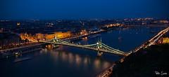 Liberty Bridge (Szabo Peter) Tags: budapest canon canon6d cityscape dusk gellert sigma sigma24105 urban liberty bridge danube river szabo magyarok ultrawide