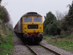 47580 trails the Mayflower tour on the Aldeburgh line 15-04-18 (APB Photography™) Tags: class47 47580 knodishall saxmundhamroad mayflower charity tour