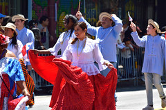 Carnaval Parade SF 80 (TheseusPhoto) Tags: carnaval carnaval2018 carnavalsf sanfrancisco bayarea missiondistrict parade costume people candid streetphotography streetportrait street girl pretty smile dance redskirt colors colorsoftheworld