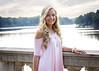 Pink (Jenny Onsager) Tags: seniorportrait seniorpictures seniorgirls seminary longblondhair pinkdress blueeyes water railing