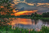 Summer has arrived at Rushcliffe CP 🌅🌷🌞 (martin.baskill) Tags: sunset lake water ducks reflections reeds sky orange flowers trees serene grass park landscape canon5dmk4