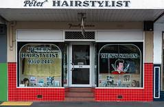 Moonee Ponds (Westographer) Tags: mooneeponds melbourne australia westernsuburbs suburbia barbershop hairstylist signage typography shopfront oldschool vintage