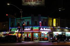 Corner on Mission Boulevard (Mick L.) Tags: missionboulevard missionbeach california signs lights