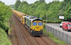 Freightliner 66597 - Mansfield (the mother '66' 66001) Tags: freightliner class66 66597 mansfield robinhoodline tenterlane highmarnham nottinghamshire railways rail